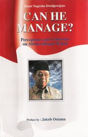 Cover of: Can he manage?