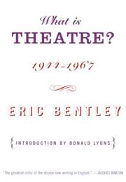Cover of: What is theatre?