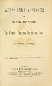 Cover of: Woman and temperance