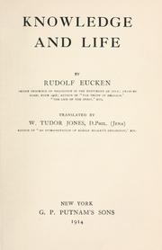 Cover of: Knowledge and life