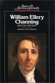 Cover of: William Ellery Channing | William Ellery Channing