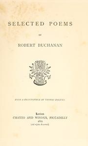 Cover of: Selected poems of Robert Buchanan
