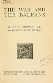 Cover of: The war and the Balkans