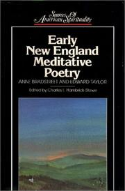 Cover of: Early New England meditative poetry