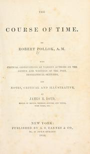 The course of time by Robert Pollok