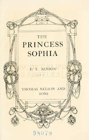 Cover of: The princess Sophia