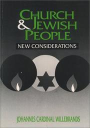 Cover of: Church and Jewish people | J. G. M. Willebrands