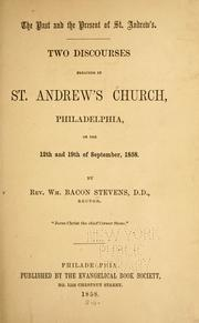 Cover of: The past and present of St. Andrew's
