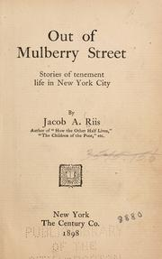 Cover of: Out of Mulberry street