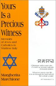 Cover of: Yours Is a Precious Witness