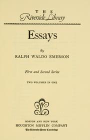 Cover of: Essays by Ralph Waldo Emerson