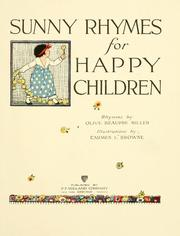 Cover of: Sunny rhymes for happy children