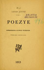 Cover of: Poezye