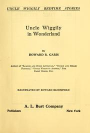 Cover of: Uncle Wiggily in Wonderland