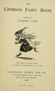 Cover of: The crimson fairy book by Andrew Lang