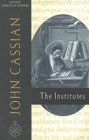 Cover of: John Cassian, The institutes