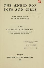 Cover of: The Aeneid for boys and girls told from Virgil in simple language
