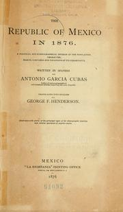 Cover of: The Republic of Mexico in 1876