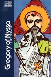 Cover of: Gregory of Nyssa