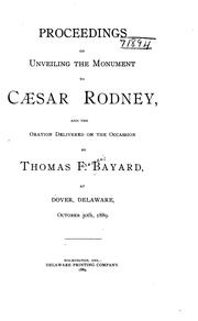 Cover of: Proceedings on unveiling the monument to Caesar Rodney