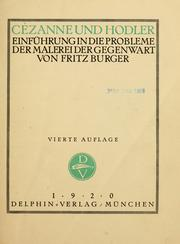 Cover of: Cézanne und Hodler | Fritz Burger