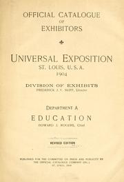 Cover of: Official catalogue of exhibitors. Universal exposition. St. Louis, U.S.A. 1904