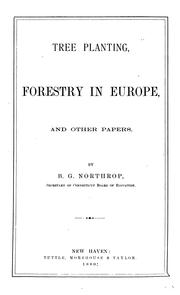 Cover of: Tree planting, forestry in Europe