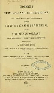 Cover of: Norman's New Orleans and environs by Benjamin Moore Norman