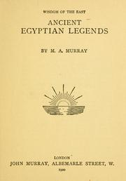 Cover of: Ancient Egyptian legends