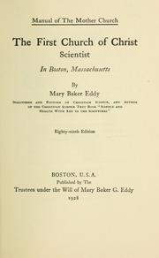 Cover of: The First Church of Christ Scientist in Boston, Massachusetts