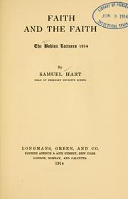 Cover of: Faith and the faith