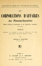 Cover of: Les corporations d'affaires au Massachusetts