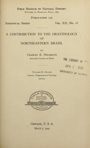 Cover of: A contribution to the ornithology of northeastern Brazil