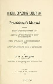 Cover of: Federal Employers' Liability Act