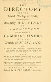 Cover of: The directory for the publick worship of God