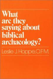 Cover of: What are they saying about biblical archaeology? | Leslie J. Hoppe