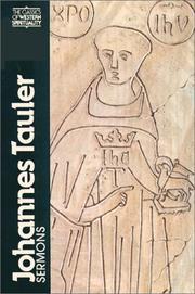 Cover of: Johannes Tauler, sermons