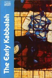 Cover of: The Early Kabbalah |