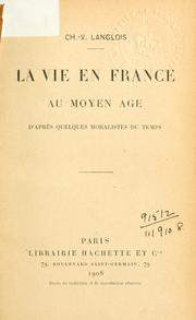 Cover of: La vie en France au moyen ©Đage