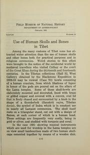 Cover of: Use of human skulls and bones in Tibet