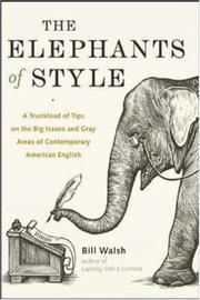 Cover of: The elephants of style