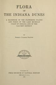 Cover of: Flora of the Indiana dunes