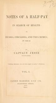 Cover of: Notes of a half-pay in search of health