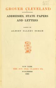 Cover of: Addresses, state papers and letters