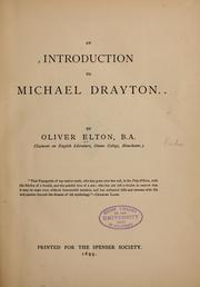 An introduction to Michael Drayton by Elton, Oliver