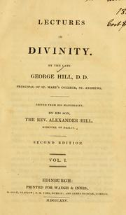 Cover of: Lectures in divinity | George Hill