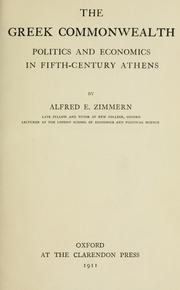 Cover of: The Greek commonwealth