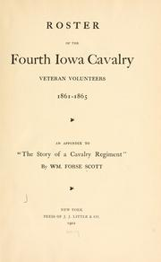 Cover of: Roster of the Fourth Iowa Cavalry Veteran Volunteers, 1861-1865