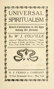 Cover of: Universal spiritualism by W. J. Colville