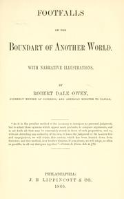 Cover of: Footfalls on the boundary of another world